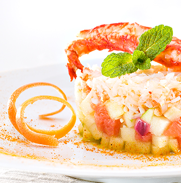 King Crabe, fruits acides au curry doux